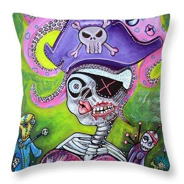 Pirate Voodoo Throw Pillow