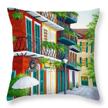 Pirates Alley Throw Pillow