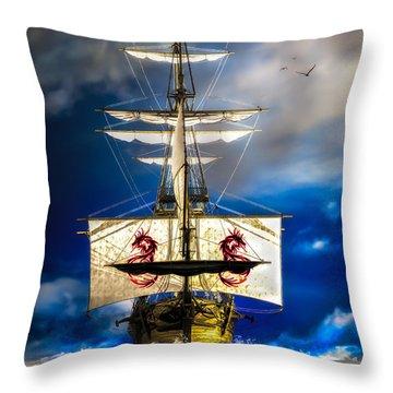 Pirates Throw Pillow by Bob Orsillo