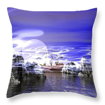Pirates Cove Throw Pillow by Jacqueline Lloyd