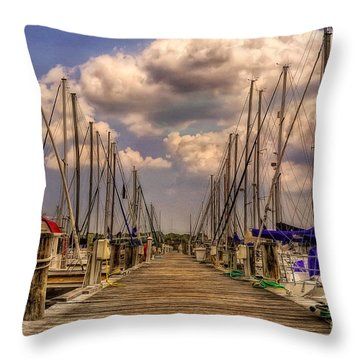 Pirate's Cove Throw Pillow by Lois Bryan