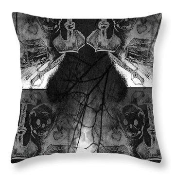 Pirate's Keepsake Throw Pillow by Maria Urso