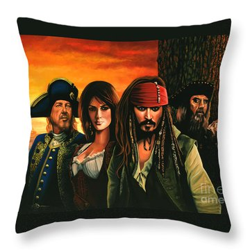 Pirates Of The Caribbean  Throw Pillow by Paul Meijering