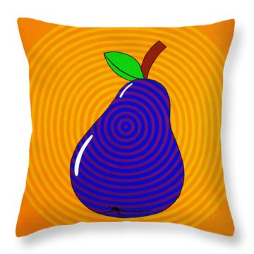 Piriform Throw Pillow by Oliver Johnston
