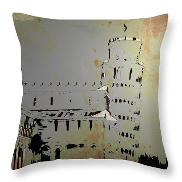 Throw Pillow featuring the digital art Pisa Italy 1 by Brian Reaves
