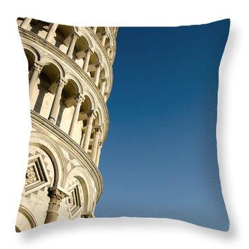 Pisa Tower Throw Pillow by Mats Silvan
