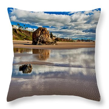 Pismo Beach At Low Tide Throw Pillow
