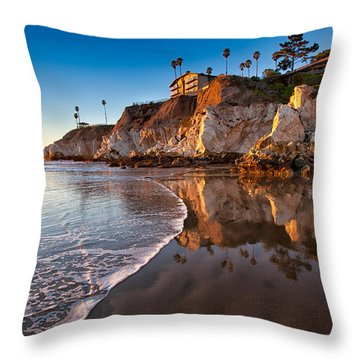 Pismo Cliffs And Reflections Throw Pillow