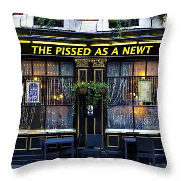 Pissed As A Newt Pub  Throw Pillow by David Pyatt