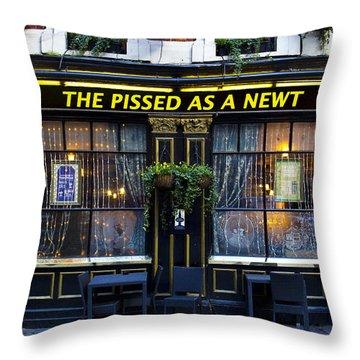Pissed As A Newt Pub  Throw Pillow by David Pyatt