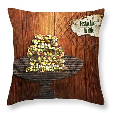 Pistachio Brittle Throw Pillow