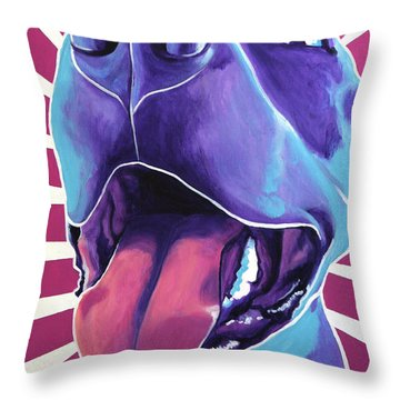 Pit Bull - Valen Throw Pillow by Alicia VanNoy Call