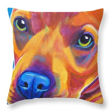 Pit Bull - Boo Throw Pillow by Alicia VanNoy Call