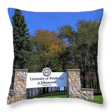 Pitt-johnstown Throw Pillow