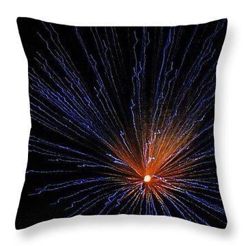 Pittsburgh Fireworks Throw Pillow