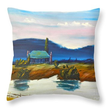 Throw Pillow featuring the painting Pittown by Pamela  Meredith