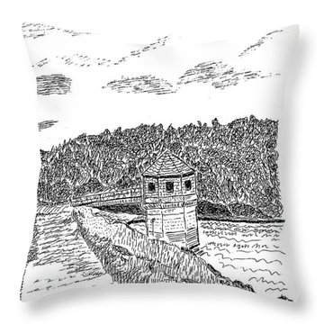 Pittsburg Dam Throw Pillow