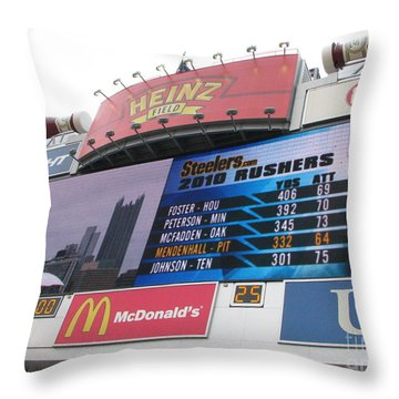 Throw Pillow featuring the photograph Pittsburgh Ketchup  by Michael Krek