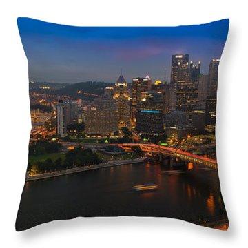 Pittsburgh Pa Throw Pillow by Steve Gadomski