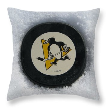 Pittsburgh Penguins Throw Pillow