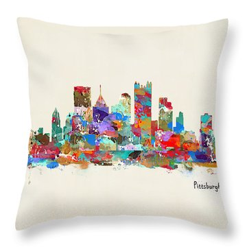 Pittsburgh Skyline Pennsylvania Throw Pillow