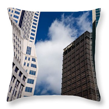 Pittsburgh Skyscrapers Throw Pillow by Amy Cicconi
