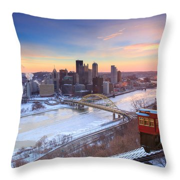 Pittsburgh Winter 2 Throw Pillow