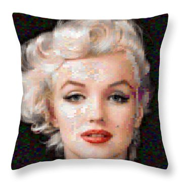 Pixelated Marilyn Throw Pillow