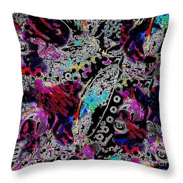 Pixel Paisley  Throw Pillow by Expressionistart studio Priscilla Batzell