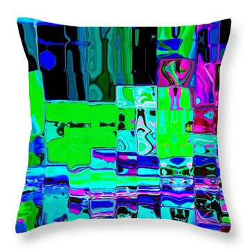 Throw Pillow featuring the digital art Pizza Dreams by Everette McMahan jr