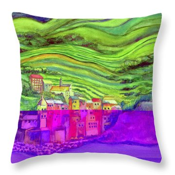 Pizza In Vernazza Throw Pillow