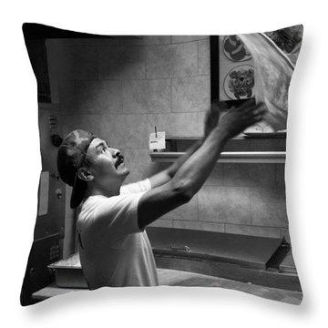 Pizza Toss Throw Pillow