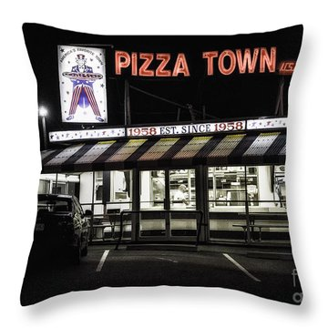 Pizza Town Throw Pillow