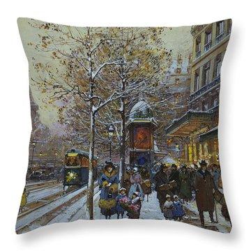 Place De La Republique Paris Throw Pillow
