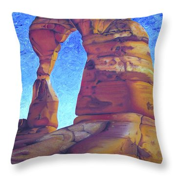 Throw Pillow featuring the painting Place Of Power by Joshua Morton