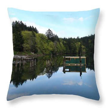 Place Of The Blue Grouse Throw Pillow by Cheryl Hoyle