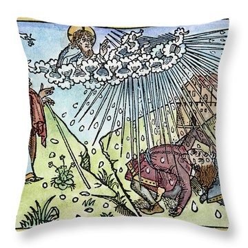 Throw Pillow featuring the painting Plague Of Hail by Granger