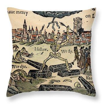 Plague Of London, 1665 Throw Pillow by Granger