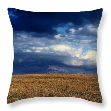 Throw Pillow featuring the photograph Plain Sky by Rodney Lee Williams
