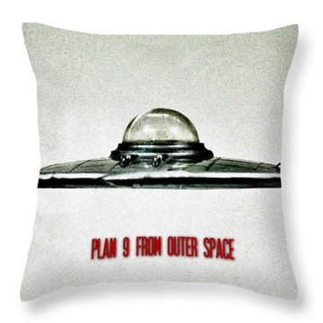 Plan 9 From Outer Space Throw Pillow by Benjamin Yeager