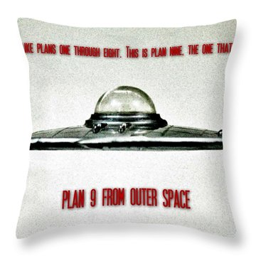 Plan 9 Seinfeld Throw Pillow by Benjamin Yeager