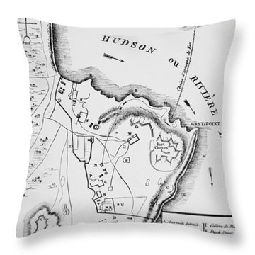 Plan Of West Point Throw Pillow by French School