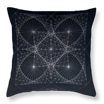 Plancks Blackhole Throw Pillow
