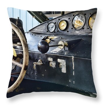 Plane Areocar Control Panel Throw Pillow by Paul Ward