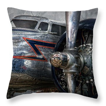 Plane - Hey Fly Boy  Throw Pillow by Mike Savad