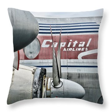 Plane Obsolete Airline Throw Pillow by Paul Ward