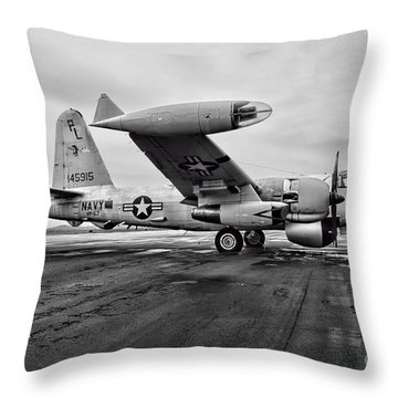 Plane - P2v-7 Neptune Aircraft Throw Pillow by Paul Ward