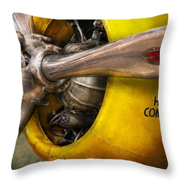Plane - Pilot - Prop - Twin Wasp Throw Pillow