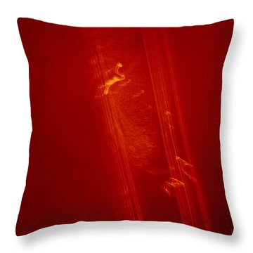Plane Signature In Red 3 Throw Pillow