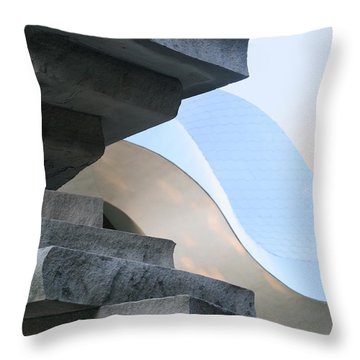 Planes And Curves Throw Pillow